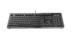Azio Mk Retro USB Typewriter Inspired Mechanical Keyboard (Blue