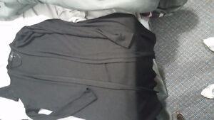 Long black jacket for evening dresses