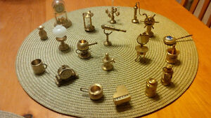 Large Set Brass Miniatures Doll House Collectibles Kitchener / Waterloo Kitchener Area image 1