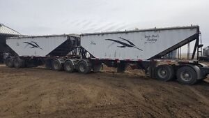 2010 lode king prestige super b grain trailer lift axle lodeking
