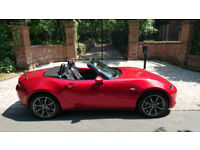 16 PLATE MAZDA MX5 2.0 SPORT 1 OWN 1,289 MILES SOUL RED SAT NAV LEATHER STUNNING