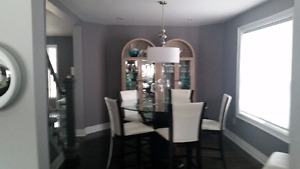 Contemporary 10 pc. Dinning Room Set