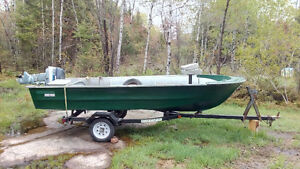 1988 14' Boat Motor and Trailer