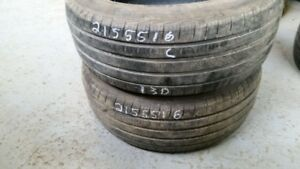 Pair of 2 Pirelli Cinturato P7 215/55R16 tires (60% tread life)