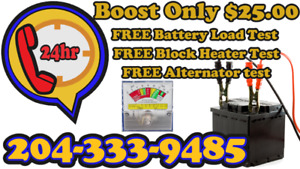 Need a Boost Jump Start? Only $25 Plus FREE Battery Load Test