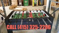 Tournament practiced Pro Foosball Tables available!