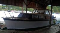 Beautiful 1950's 32ft. Teak and Mahogany Cabin Cruiser