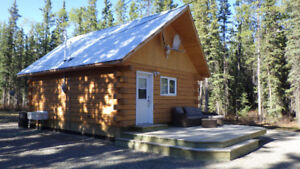 1 bedr. log cabin with running water