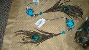 GORGEOUS GENUINE TAIL EYE PEACOCK FEATHERS HANGING DECORATIONS Kitchener / Waterloo Kitchener Area image 7