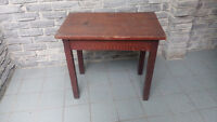ANTIQUE RUSTIC SIDE TABLE SOLID WOOD