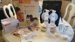 Ameda purely yours double electric breast pump. Euc. 150 obo.