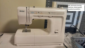 Sewing machine; snowshoes; decor; costume; pictures; docking stn