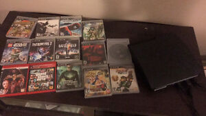 14 games with PS3 no controllers!