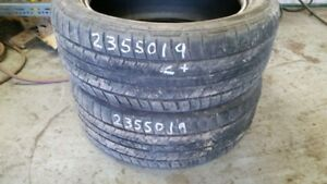 Pair of 2 Continental 4x4Contact 235/50R19 tires (65% tread life