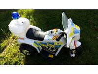 Battery operated police bike.