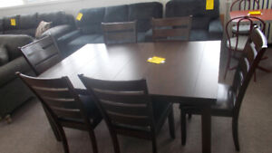 New table and six chairs on sale for $599. Wyse buys.