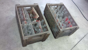 Coca-Cola cases with bottles