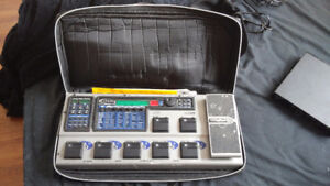 Digitech GNX3 electronic pedal board and tree cordr