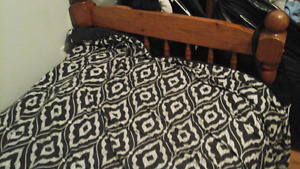 Single bed with box spring real wood  140 OBO