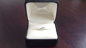 Diamond and Sterling Silver Ring Kitchener / Waterloo Kitchener Area image 1