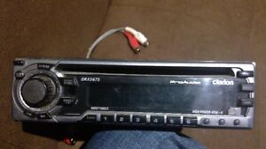 Clarion head unit with removable faceplate