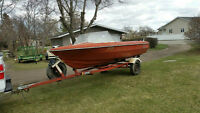 Princecraft Boat and Calkins ez load trailer