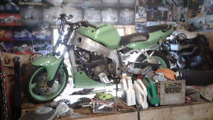 1998 kawasaki ZX6R streetfighter project