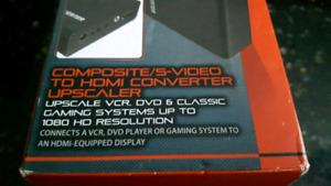 Composite/S-video HDMI Converter $35 OBO