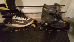 Nike and K2 Rollerblades Mens SZ 11-5