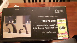Roman Tub Faucet with Soft Touch Personal Shower Kitchener / Waterloo Kitchener Area image 1