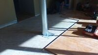 Install Hardwood Floors & Stairs. Sand and finish hardwood Floor