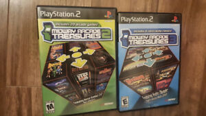 PS2  PlayStation 2 Midway Arcade Treasures 1,2 and 3 for $25