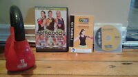 Kettlebody workout with 3 DVDs and kettleball