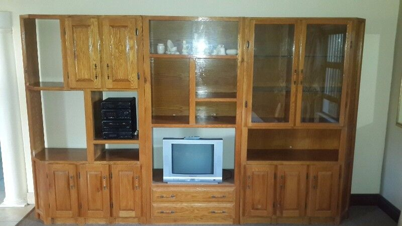 Solid oak wall unit for sale | Other | Gumtree Classifieds South ...