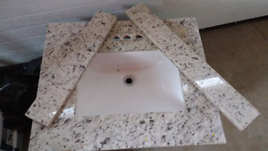 Sink with granite