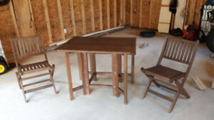 Folding Solid wood patio set