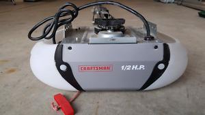 Craftsman 1/2 horsepower Garage Door Opener with 2 Remotes