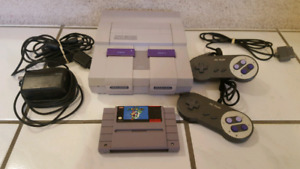 Original Super Nintendo SNES System with Game
