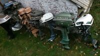 9 Outboard Motors Various Vintages