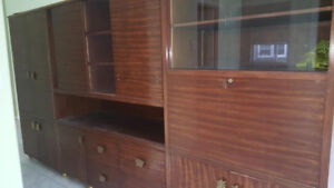 Large entertainment center/shelving unit, very good condition