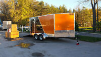 7x14' vnose snowmobile trailer