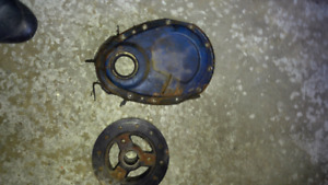Sbc chevy 6 inch damper. And timing chain cover