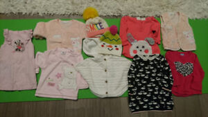 10 piece baby girls clothing lot 12-24 months