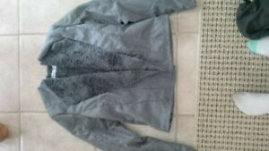 faux suede and fur luned jacket