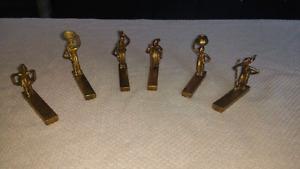 Repose couteaux africains en bronze
