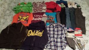Bag of size 4t boys clothes