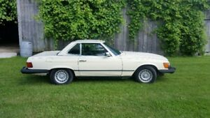 84 Mercedes 380 SL beauty selling certified