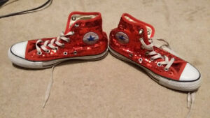 Converse All Star Red Glitter
