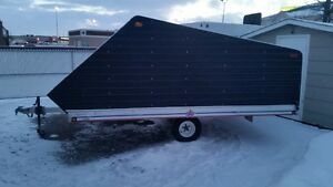 12' Tilting Aluminum Snowmobile Trailer with Clamshell