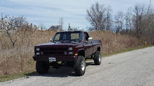 Lifted 1983 gmc pickup 4x4 for sale or trade
